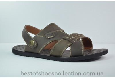 Мужские кожаные сандалии коричневые Bonis 25