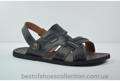 Мужские кожаные сандалии черные Bonis 25