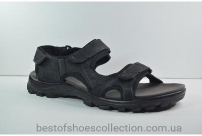 Мужские сандалии великаны черные Restime 20111