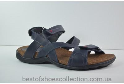 Мужские кожаные сандалии синие Step Wey 1072
