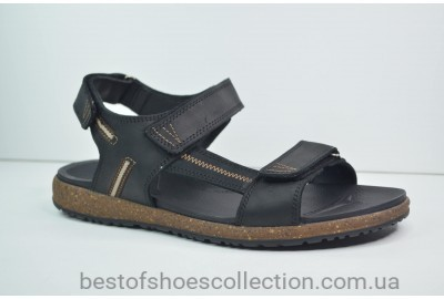 Мужские кожаные сандалии черные Samas 633 - 1