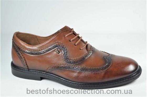 Мужские кожаные туфли рыжие L-Style 1260 - 1
