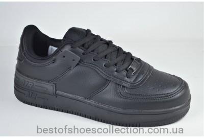 Подростковые и женские спортивные туфли кеды черные Ditof 9165 - 8