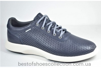Мужские летние кожаные кроссовки синие Clubshoes 123