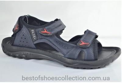 Мужские спортивные кожаные сандалии синие Clubshoes Е