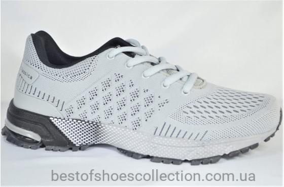 Мужские кроссовки светло серые Classica 1060 - 1