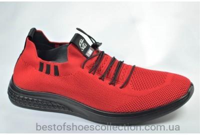 Мужские летние кроссовки сетка красные Fagao 99022