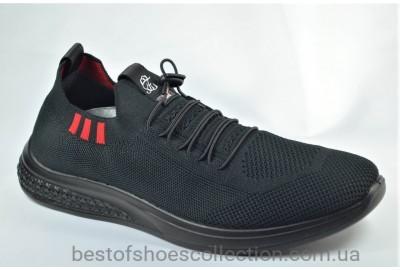Мужские летние кроссовки сетка черные Fagao 99028