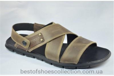 Мужские кожаные сандалии великаны оливковые Maxus 8