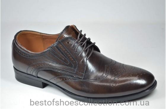 Мужские кожаные туфли коричневые Nord But 679