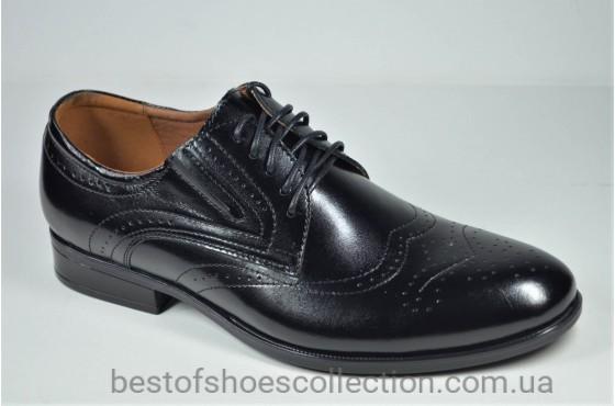 Мужские кожаные туфли черные Nord But 679