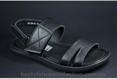 Мужские кожаные сандалии черные Rondo 71844