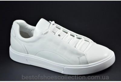 Мужские спортивные туфли кожаные кеды белые eD-Ge Ked 04