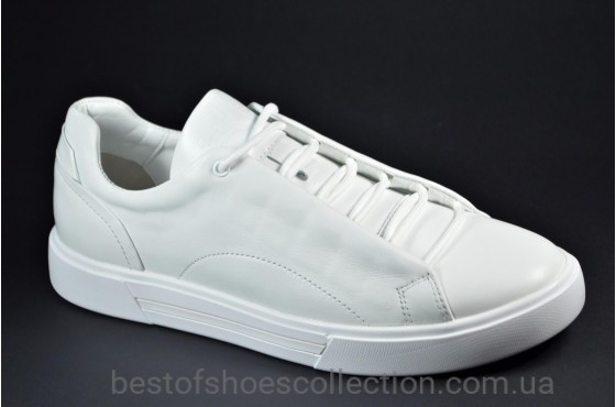 Мужские кожаные кеды белые eD-Ge Ked 04