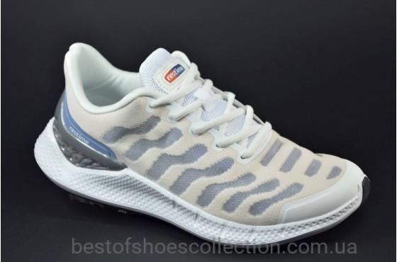 Женские летние кроссовки белые с серым Restime 21838