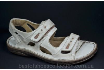 Мужские кожаные сандалии светло серые Mario Boschetti 017 - 72