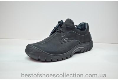 Мужские кожаные туфли черные Riko 367