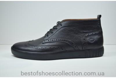 Мужские кожаные броги черные высокие Safari 17101