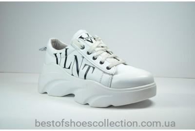 Женские кожаные кроссовки белые Valentino 40 - 06