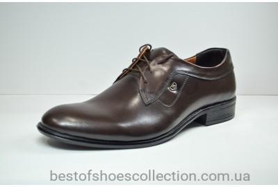 Мужские кожаные туфли коричневые Л-Шик 050