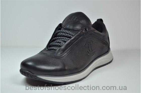 Мужские кроссовки черные с серым Level 55610