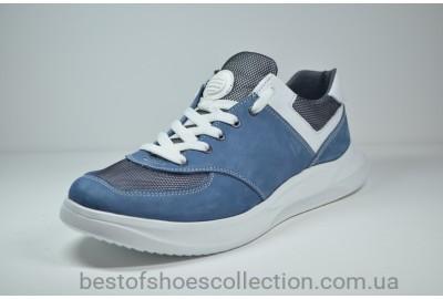 Мужские кроссовки нубуковые синие Samas 133 - 2