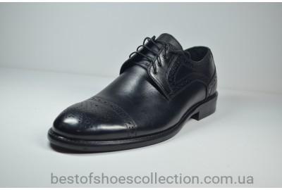 Мужские кожаные туфли черные Calif 4496.01