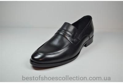 Мужские кожаные туфли черные Calif 4503