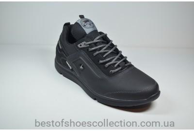 Мужские кожаные кроссовки черные Splinter 1719