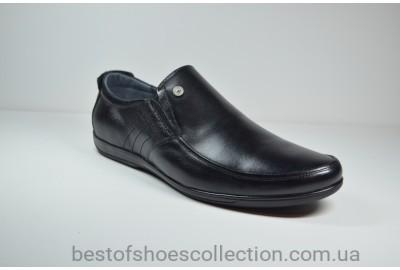Мужские кожаные туфли черные L-Style 982