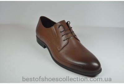 Мужские кожаные туфли рыжие IKOC 3416 - 8