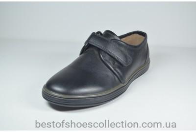 Кожаные спортивные детские туфли черные Kangfu 1223 - 2