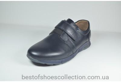 Кожаные спортивные детские туфли синие Kangfu 1633 - 5