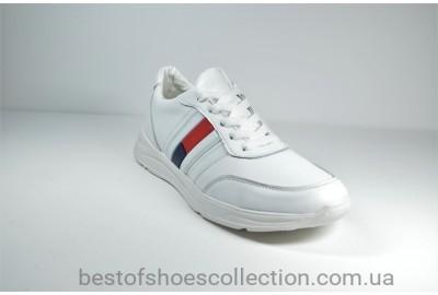 Подростковые кожаные кроссовки белые Multi-Shoes Tomas