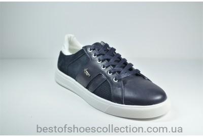 Мужские кожаные кеды синие Multi-Shoes List