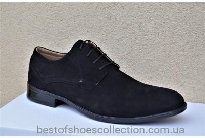 Мужские туфли велюровые черные Stas 438-03-10
