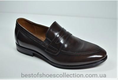Мужские кожаные туфли лоферы коричневые Nord L-Style 447