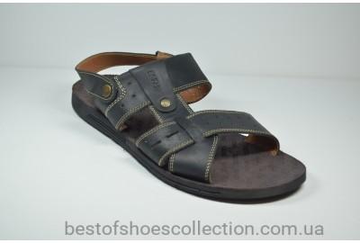Мужские кожаные сандалии черные Bonis 110