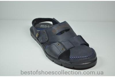 Мужские кожаные сандалии синие Belvas 703/2