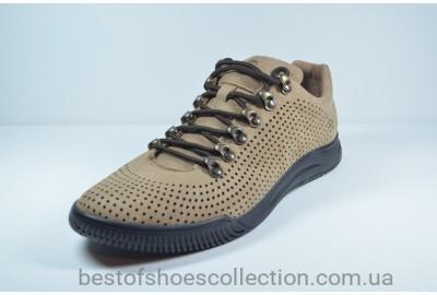 Мужские туфли нубуковые рыжие Samas 705 П-3