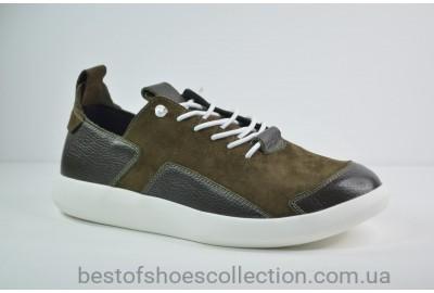 Мужские кожаные кроссовки хаки Rondo 40/0030