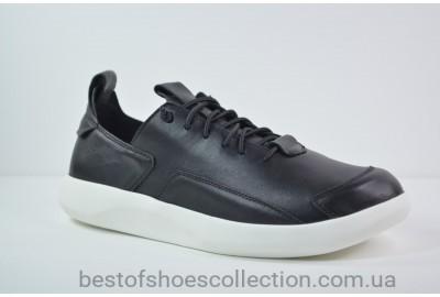 Мужские кожаные кроссовки черные Rondo 40/0068