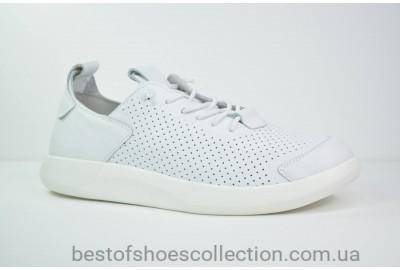 Мужские летние кожаные кроссовки белые Rondo 45/100