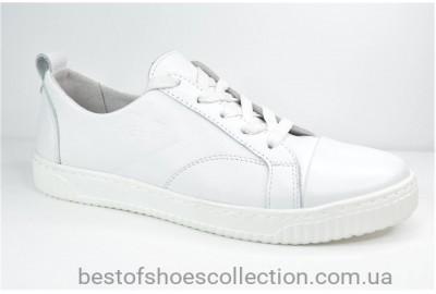 Кожаные кеды белые Safari 13505