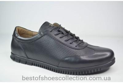 Мужские кожаные туфли черные Cevivo 5676