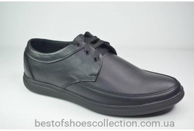 Мужские кожаные туфли черные Van Kristi 103
