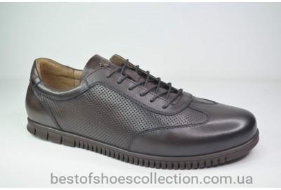 Мужские кожаные туфли коричневые Cevivo 5676