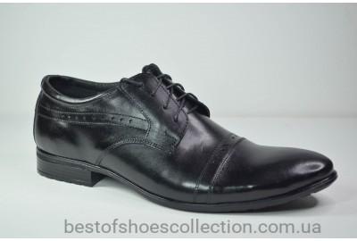 Мужские кожаные туфли черные Ava 41