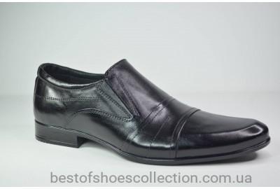 Мужские кожаные туфли черные Ava 28