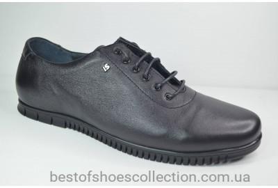 Мужские кожаные туфли черные L-Style 1036